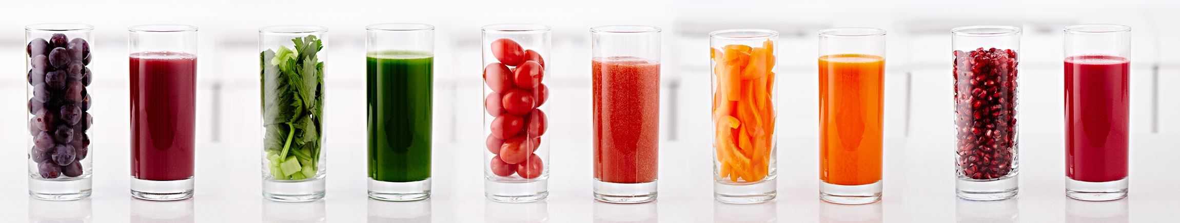 Hurom sokovi u čašama.